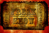 Freak Show Ticket 4 Plastic Sign
