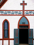 Old wooden church in rural Indiana, USA Photographic Print by Anna Miller