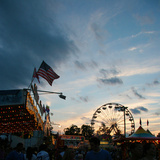 Rides at Indiana State Fair Midway, Indianapolis, Indiana, Reprodukcja zdjęcia autor Anna Miller