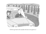 """""""I'd like to get back to the city before the leaves turn against us."""" - New Yorker Cartoon Premium Giclee Print by Peter C. Vey"""