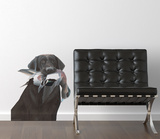 Chocolate Laborador Wall Decal