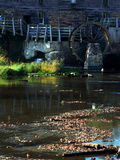 Antiue equipment and historic Mansfield Mill, Mansfield, Indiana, USA Photographic Print by Anna Miller