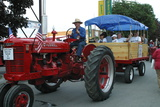 Indiana State Fair, Indianapolis, Indiana, antique tractor Photographic Print by Anna Miller