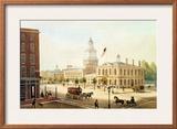 State House, Philadelphia Framed Giclee Print by Augustus Kollner