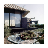 Rock Garden and Exterior of Mr. and Mrs. Joe D. Price's Japanese-Style House in Oklahoma Regular Photographic Print by Horst P. Horst