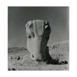 Large Ruin of Bull Statue from Ruin of Persepolis Regular Photographic Print by Horst P. Horst