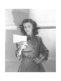 Despina Venizelos Holding Index Card Regular Photographic Print by Horst P. Horst