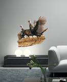 Three Wild Turkeys Wall Decal