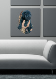Black Laborador Puppy Wall Decal