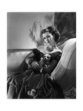Diana Barrymore Blythe (Actor John Barrymore's Daughter) Wearing Velvet Dress Regular Photographic Print by Horst P. Horst