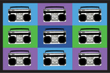 Boombox Stereos 3 Pop Art Print Poster Posters