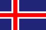 Iceland National Flag Poster Print Print
