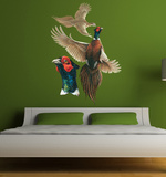 Pheasants Head Wall Decal