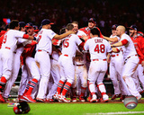 The St. Louis Cardinals celebrate winning Game 2 of the 2014 National League Championship Series Photo
