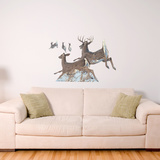 Jumping White Tailed Deer Wall Decal