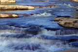 Rocky creek cascades in Cataract Falls State Park, Indiana, USA Photographic Print by Anna Miller