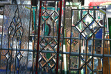 stained glass panels, Covered Bridge festival, Indiana, USA Photographic Print by Anna Miller