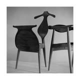 Handmade Chair and Clotheshorse by Hans Wegner of Denmark Regular Photographic Print by Horst P. Horst
