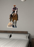 John Wayne on Horse Autocollant mural