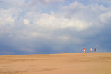 Sky and sand dunes, Indiana Dunes, Indiana, USA Photographic Print by Anna Miller