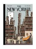 Fall Library - The New Yorker Cover, October 20, 2014 Premium Giclee Print by Tom Gauld
