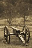 USA, Pennsylvania, Gettysburg, Battle of Gettysburg, Civil War Cannon Photographic Print by Walter Bibikow