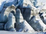 Svinafellsjoekull Glacier in Vatnajokull NP During Winter Photographic Print by Martin Zwick