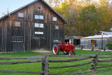 historic barn in Billie Creek village, Indiana, USA Photographic Print by Anna Miller