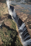 Zimbabwe, Aerial View of Victoria Falls Photographic Print by William Sutton