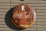 Antique Coca Cola sign, Mansfield, Indiana, USA Photographic Print by Anna Miller