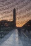 USA, Washington Dc, Vietnam War Memorial Reflects Washington Monument Photographic Print by Walter Bibikow