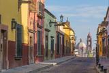 Mexico, San Miguel De Allende. Street Scene Fotografisk tryk af Jaynes Gallery