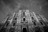 Italy, Lombardy, Milan, Duomo, Florence Cathedral at Dusk Photographic Print by Walter Bibikow