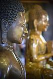 Cambodia, Phnom Penh. Buddha Statues Inside Temple Photographic Print by Matt Freedman