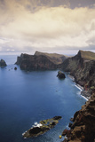 Portugal, Madeira, Ponta De Sao Lourenco. Cliff Along Sea Photographic Print by Walter Bibikow