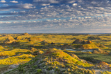 Badlands at Daybreak Near Fort Peck Reservoir, Jordan, Montana, Usa Stampa fotografica di Chuck Haney