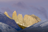 Las Torres before Sunrise. Torres Del Paine NP. Chile Photographic Print by Tom Norring