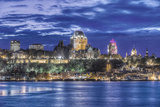 Canada, Quebec, Quebec City at Twilight Photographic Print by Rob Tilley