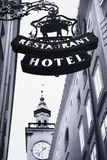 Austria, Salzburg, Hotel Sign Photographic Print by Walter Bibikow
