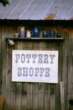 Pottery shop in historic Billie Creek Village, Indiana, USA Photographic Print by Anna Miller
