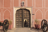 India, Rajasthan, Jaipur, Entrance of City Palace with Shrine Photographic Print by Alida Latham
