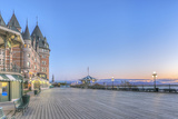 Canada, Quebec, Quebec City, Dufferin Terrace at Dawn Photographic Print by Rob Tilley