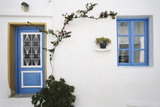 Greece, Cyclades Islands, Paros, Naoussa, Doorway of House Photographic Print by Walter Bibikow