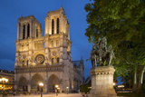 Charlemagne Statue Below the Cathedral Notre Dame, Paris, France Photographic Print by Brian Jannsen