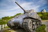 Us Army Sherman Tank on Display at Arromanches-Les-Bains, France Photographic Print by Brian Jannsen
