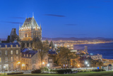 Canada, Quebec, Quebec City, Old Town at Twilight Photographic Print by Rob Tilley