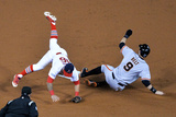 NLCS - San Francisco Giants v St Louis Cardinals - Game Two Photographic Print by Michael Thomas