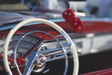 Close-Up of Steering Wheel in Classic Car Photographic Print by Stuart Westmorland