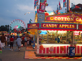 Fair food vendor shacks, Indiana State Fair, Indianapolis, Indiana, Photographic Print by Anna Miller