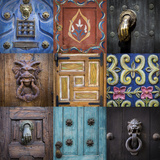 Mexico, San Miguel De Allende. Collage of Door Details in City Photographic Print by Jaynes Gallery